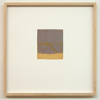 James Bishop / James Bishop Untitled  2009 12.3 x 10.8 cm oil and crayon on paper