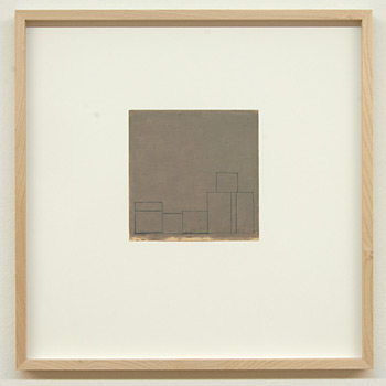 James Bishop / James Bishop Untitled  2009 14 x 14 cm oil and crayon on paper