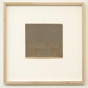 James Bishop / James Bishop Untitled  2009 16.6 x 17.8 cm oil and crayon on paper