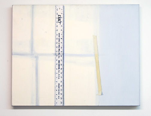 Sylvia Plimack-Mangold / Sylvia Plimack Mangold  Light on Rule, Wall and Tape  1975 61 x 76 cm acrylic on canvas