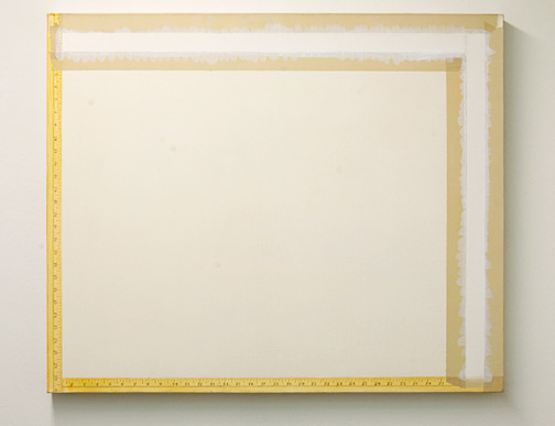 Sylvia Plimack Mangold / Sylvia Plimack Mangold Before Painting on the Tape Color  1977 76.5 x 92 cm acrylic on canvas