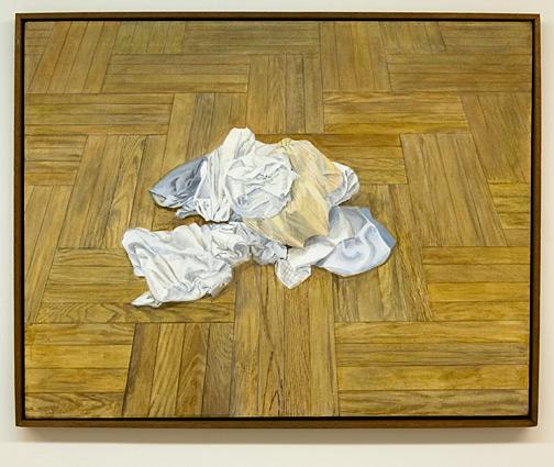 Sylvia Plimack Mangold / Sylvia Plimack Mangold Floor with Laundry #2  1970 91.5 x 116.8 cm acrylic on canvas