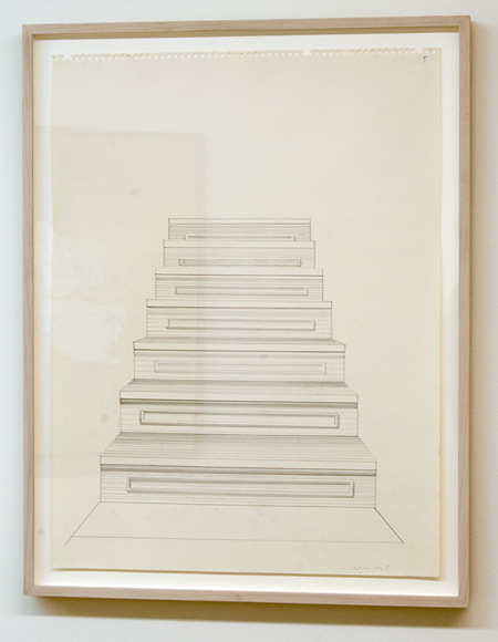 Sylvia Plimack-Mangold / Sylvia Plimack Mangold Untitled (staircase)  1968 61 x 45.7 cm pencil on paper