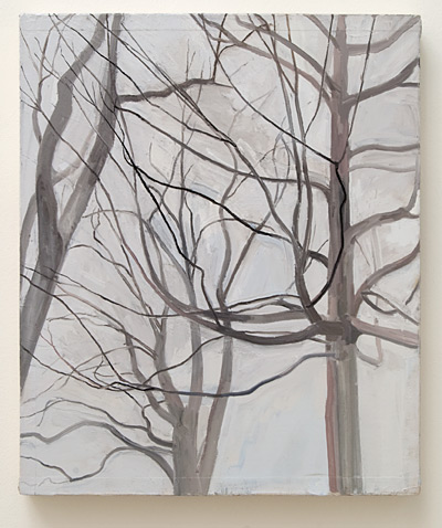 Sylvia Plimack Mangold / Sylvia Plimack-Mangold The Locust Trees with Maple  1989 61 x 51 cm oil on canvas