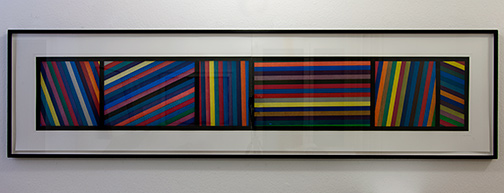 Sol LeWitt / Bands of Lines in Different Directions  1996  50.8 x 210.8 cm color aquatint, Ed. 24 von 36, two parts