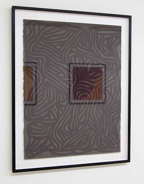Sol LeWitt / Irregular Grid  2001  75 x 57.6 cm   gouache on paper
