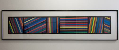 Sol LeWitt / Bands of Lines in Different Directions  1996  50.8 x 210.8 cm color aquatint Ed. 24/36