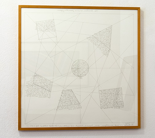 Sol LeWitt / The location of six geometric figures  1975 60.5 x 60.5 cm etching Ed. 14/25
