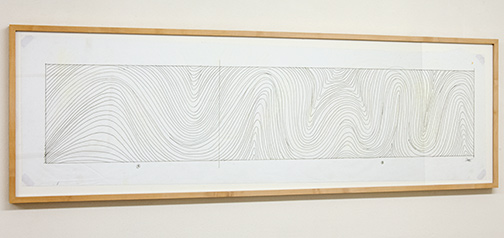 Sol LeWitt / Working Drawing Whitney Museum  2000  39.2 x 134.5 cm pencil and ink on paper