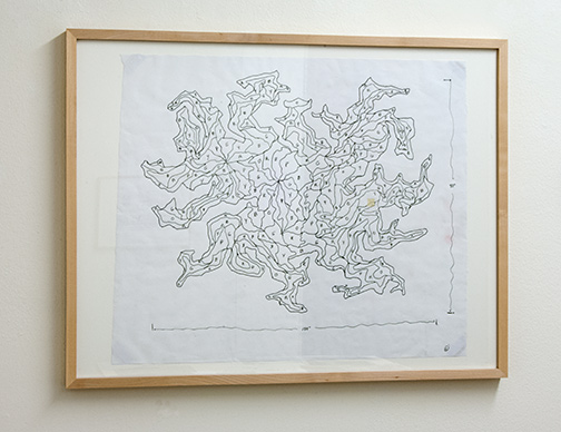 Sol LeWitt / Working Drawing for Nongeometric Form  2003  45.7 x 54.7 cm ink on paper