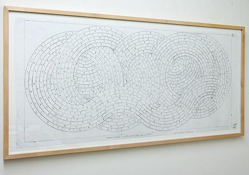 Sol LeWitt / Working Drawing Princeton  2004  45.8 x 101.5 cm pencil on paper