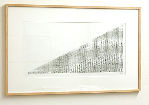 Sol LeWitt / Working Drawing for Concrete Block Structure  1996  33.4 x 61 cm ink on paper