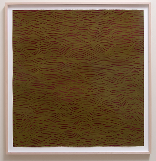 Sol LeWitt / Horizontal Bands (More or Less)  2002  154 x 147 cm gouache on paper