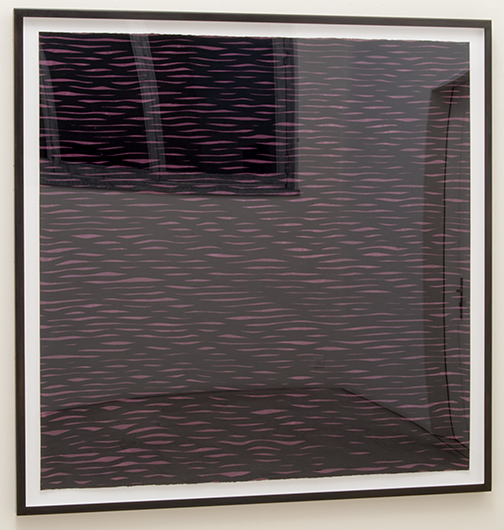 Sol LeWitt / Horizontal Lines, Black on Colors  2005  152.4 x 153.7 cm gouache on paper