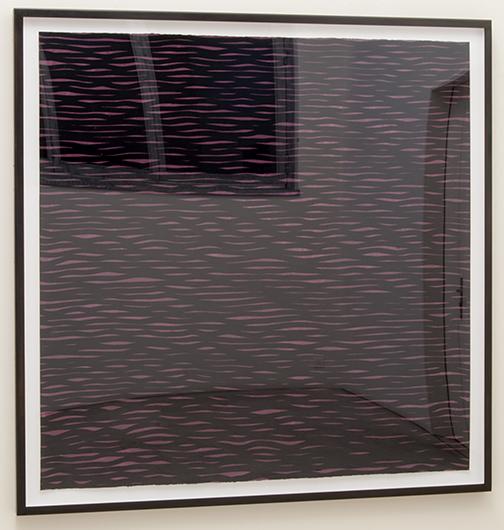 Sol LeWitt / Horizontal Lines, Black on Colors  2005  152.4 x 153.7 cm gouache on paper