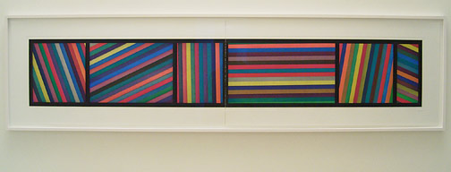 Sol LeWitt / Bands of lines in different directions  1996 50.8 x 210.8 cm two part color aquatint Ed. 36 AP 5/8