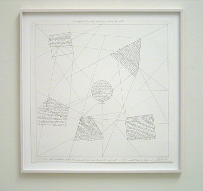 Sol LeWitt / The location of six geometric figures  1975 60.5 x 60.5 cm etching Ed. 12/25