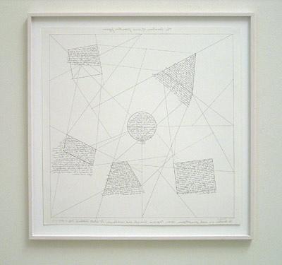 Sol LeWitt / The location of six geometric figures  1975 60.5 x 60.5 cm etching Ed. 12/25