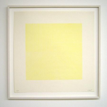 Sol LeWitt / Straight lines in four directions  1971 50.8 x 50.8 cm silkscreen (light yellow) Ex. 29/30