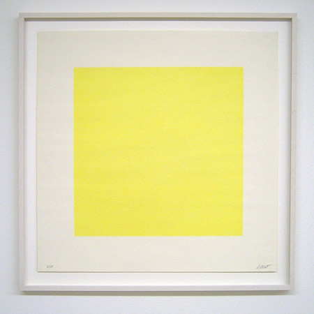 Sol LeWitt / Composite Series  1971 50.8 x 50.8 cm silkscreen (yellow) Ex.33/35