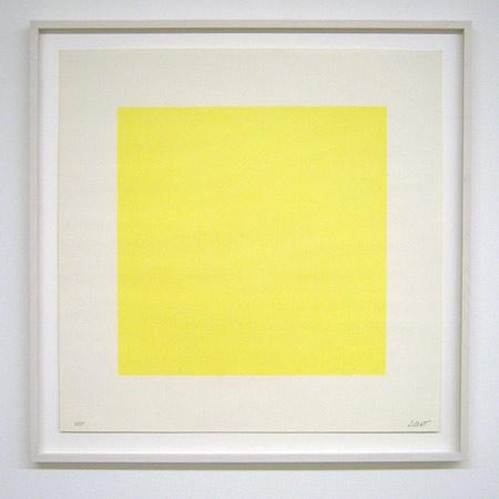 Sol LeWitt / Composite Series  1971 50.8 x 50.8 cm silkscreen (yellow) Ex.33/35