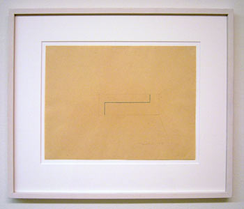 Fred Sandback / Untitled  1975 23 x 30 cm pencil and blue pastel pencil on paper