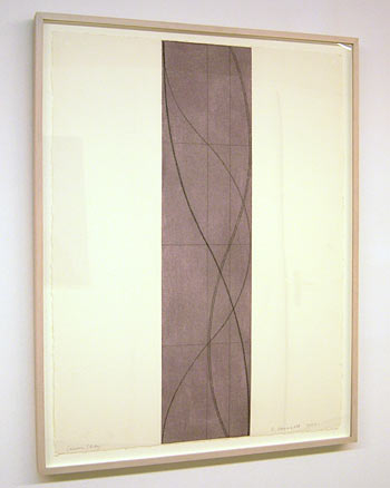 Robert Mangold / Column Study  2004 76.8 x 57.8 cm / 30.25 x 22.75 '' pastel and pencil on paper