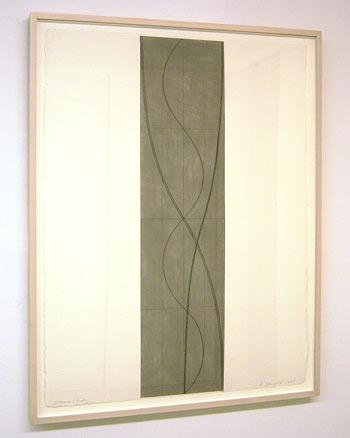Robert Mangold / Column Study  2005 76.8 x 57.8 cm / 30.25 x 22.75 '' pastel and pencil on paper