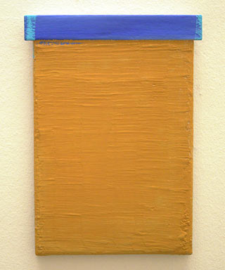 Joseph Egan / top  2006 30 x 22 x 2.5 cm various paints and wood on canvas