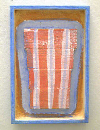 Joseph Egan / robe  2003 30 x 20 x 3 cm various paints and sand on wood