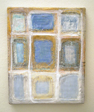 Joseph Egan / patchwork  2006 30 x 24 x 2 cm various paints and sand on canvas