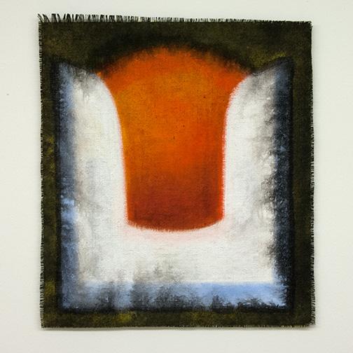Joseph Egan / Joseph Egan on Hydra (Nr. 10)  2013  57 x 50 x 1 cm Various paints on canvas