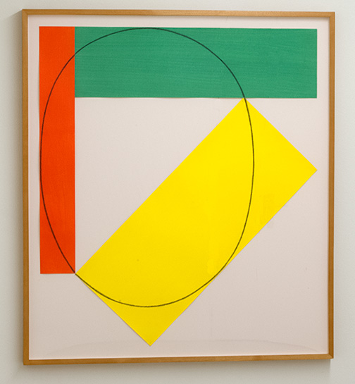 Robert Mangold / Robert Mangold Three Color Frame Painting  1985  92 x 81.3 cm   Acrylic and pencil on paper