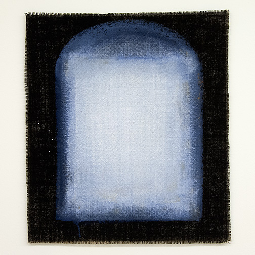 Joseph Egan / Joseph Egan on Hydra (Nr. 8)  2013  57 x 49 x 1 cm Various paints on canvas