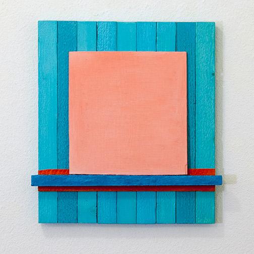 Joseph Egan / Joseph Egan Local Color  2017 40 x 37.5 x 4.5 cm various paints on wood