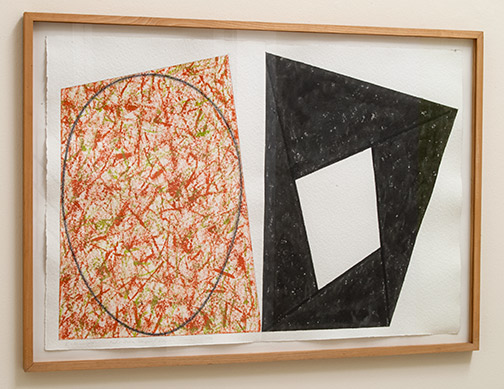 Robert Mangold / Robert Mangold Red-Green Ellipse/ Black Frame  1988 76.8 x 111.8 cm acrylic and pencil on paper