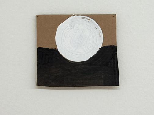 Richard Tuttle / Richard Tuttle Formal Alphabet C  2015 15.4 x 17.9 cm acrylic on corrugated cardboard, steel nails