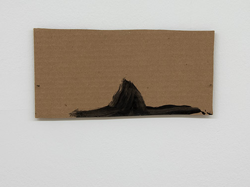 Richard Tuttle / Richard Tuttle Formal Alphabet D  2015 14.1 x 27.4 cm acrylic on corrugated cardboard, steel nails