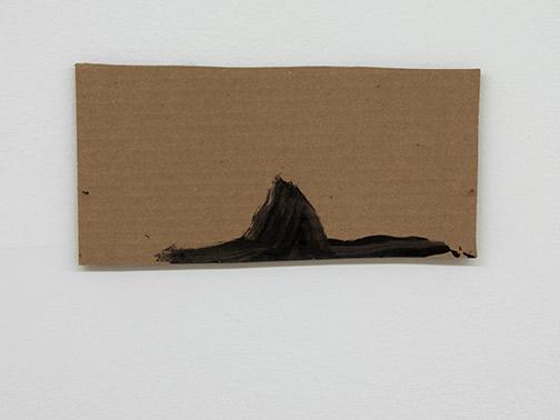 Richard Tuttle / Richard Tuttle Formal Alphabet D  2015 14.1 x 27.4 cm acrylic on corrugated cardboard, steel nails