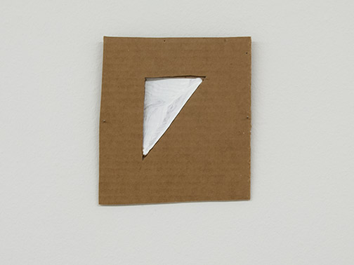 Richard Tuttle / Richard Tuttle Formal Alphabet E  2015 19.3 x 17.6 cm acrylic on corrugated cardboard, steel nails