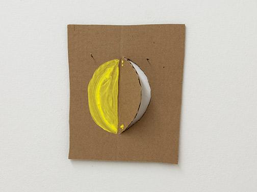 Richard Tuttle / Richard Tuttle Formal Alphabet H  2015 24.3 x 20.8 cm acrylic on corrugated cardboard, steel nails