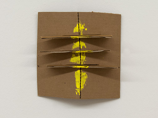 Richard Tuttle / Richard Tuttle Formal Alphabet K  2015 25.4 x 23.1 cm acrylic on corrugated cardboard, steel nails