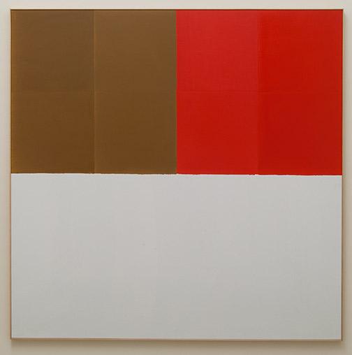 James Bishop / James Bishop Brown / Red  1969 189.5 x 188.5 cm oil on canvas