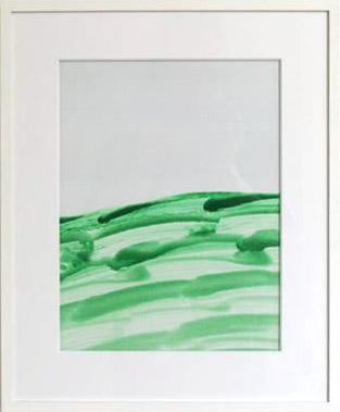 Joseph Egan / Joseph Egan Hillside Lake (colours in the world)  1999 43 x 35 x 2.5 cm various paints on paper, with framing