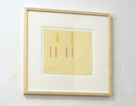 "Fred Sandback / Fred Sandback  Untitled  1981 19.1 x 21.6 cm / 7.5 x 8.5"" marker on paper"