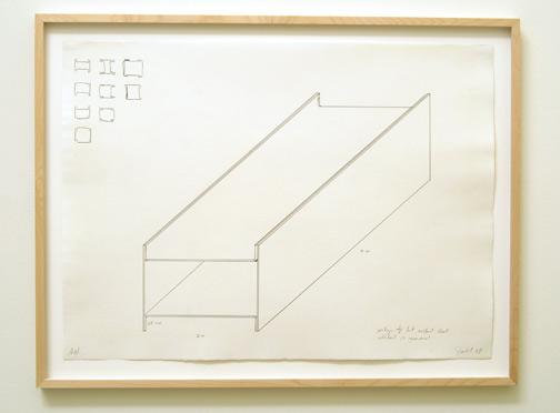"Donald Judd / Donald Judd  Untitled  1978 55.8 x 76.2 cm / 22 x 30"" graphite on paper Privatsammlung"