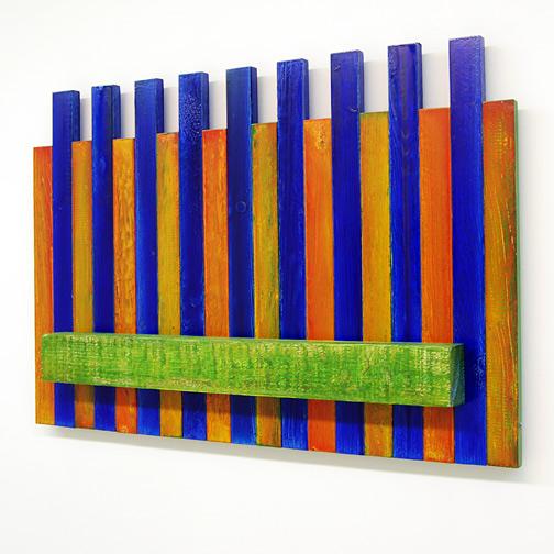 Joseph Egan / Joseph Egan Picket (a place to eat from)  2002 56 x 82 x 10 cm various paints on wood