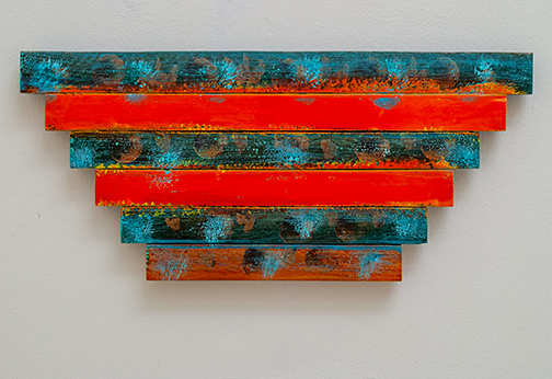 Joseph Egan / Joseph Egan Scuba  2020 22.5 x 50 x 2.5 cm Various paints on wood