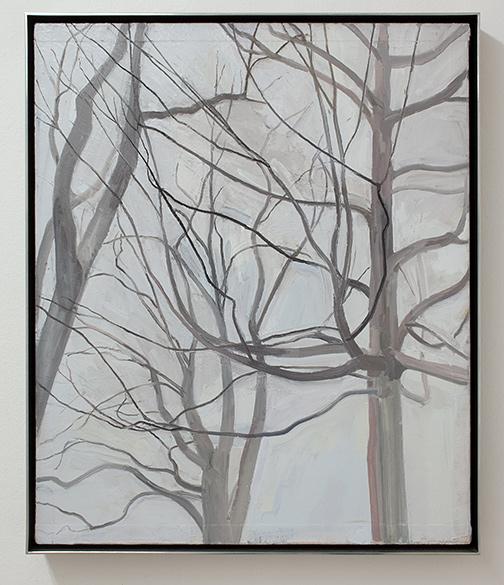 Sylvia Plimack-Mangold / Sylvia Plimack Mangold The Locust Trees with Maple  1989 61 x 51 cm oil on canvas