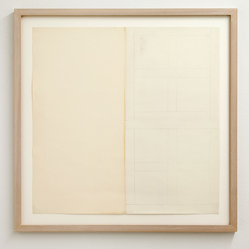 James Bishop / James Bishop Untitled  1970 ca. 55.5 x 55.5 cm oil on paper